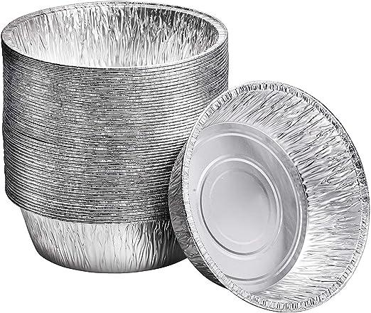 Amazon.com: Sartenes desechables de aluminio redondos de 10 ...