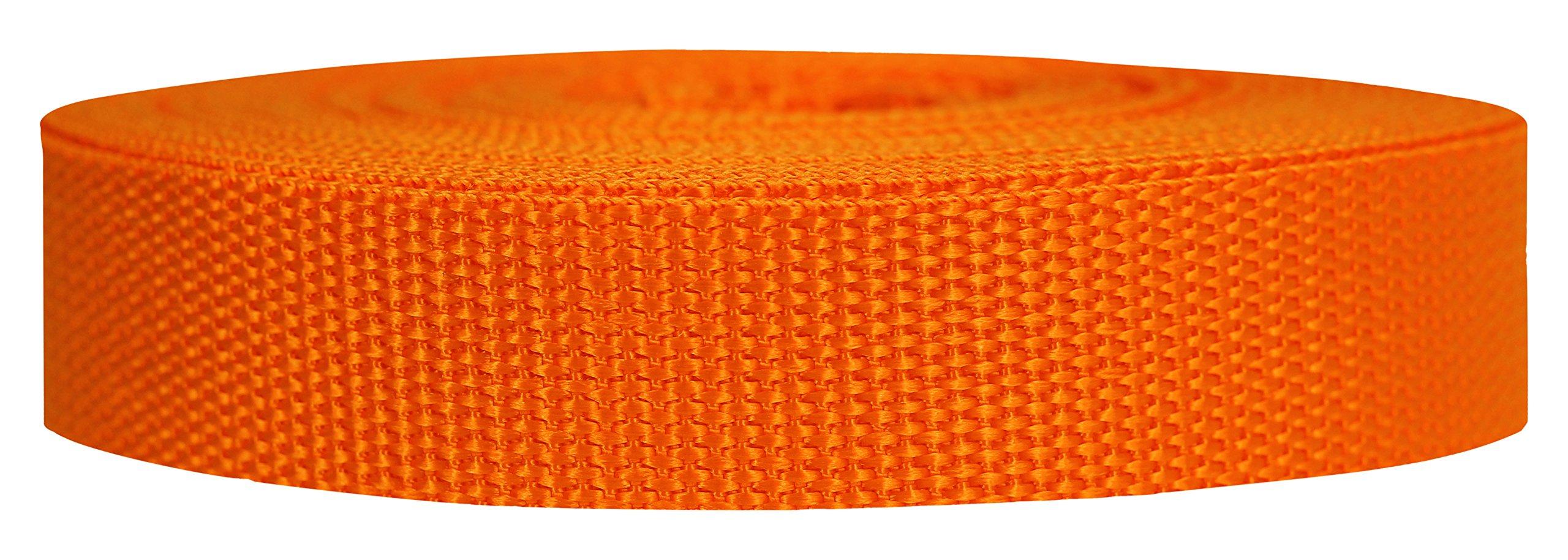 Strapworks Heavyweight Polypropylene Webbing - Heavy Duty Poly Strapping for Outdoor DIY Gear Repair, 1 Inch x 10 Yards - Orange