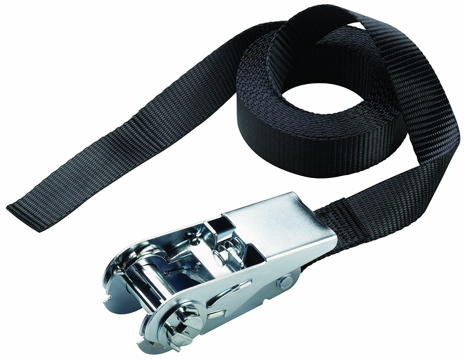 Master Lock 3223EURDAT - Lashing Strap with Ratchet without Hooks 2.50 m with Printed Logo