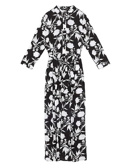 758e32aa505 Zara Women's Floral Print Dress 4786/049 Black: Amazon.co.uk: Clothing