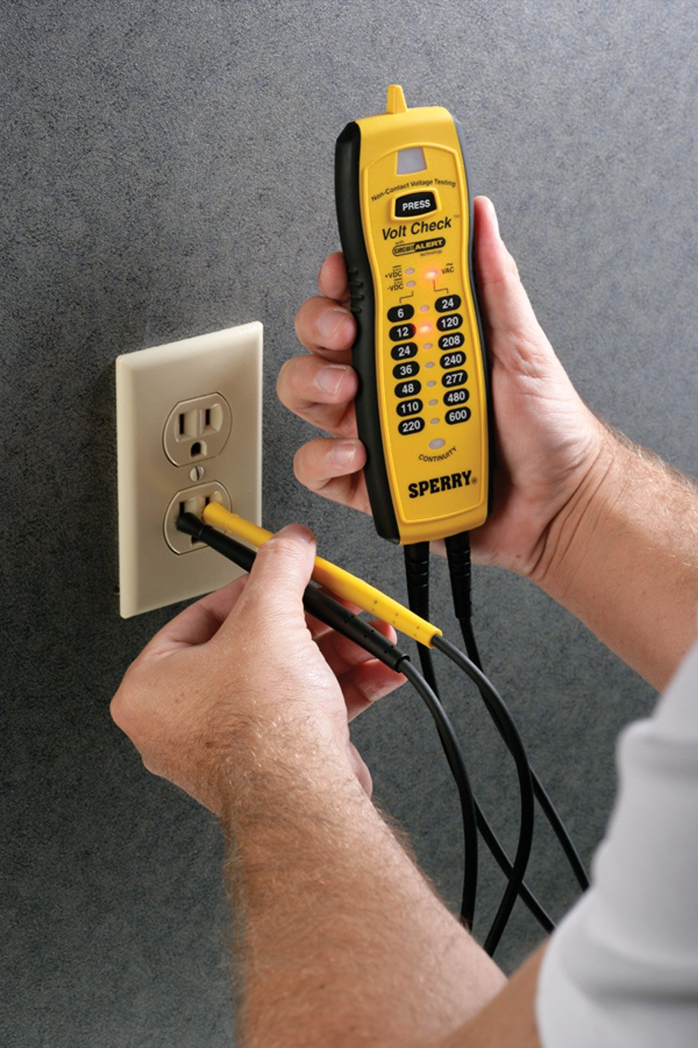 Sperry Instruments Vc61000 Volt Check Voltage Continuity Tester Testing Equipment Testers Circuit Breaker Black Yellow
