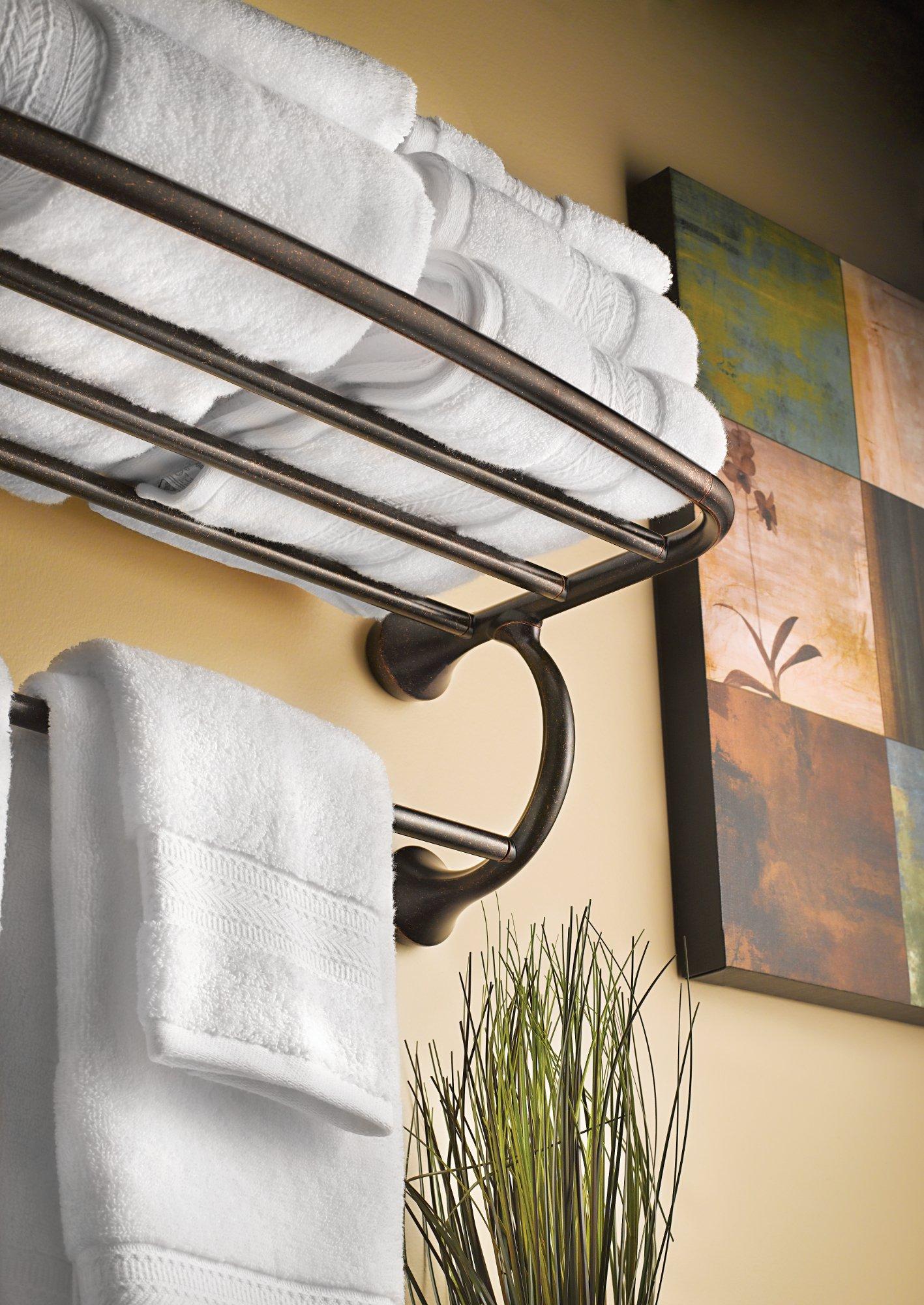 Moen YB2894BN Eva Bathroom Hotel Towel Shelf, Brushed Nickel by Moen (Image #2)