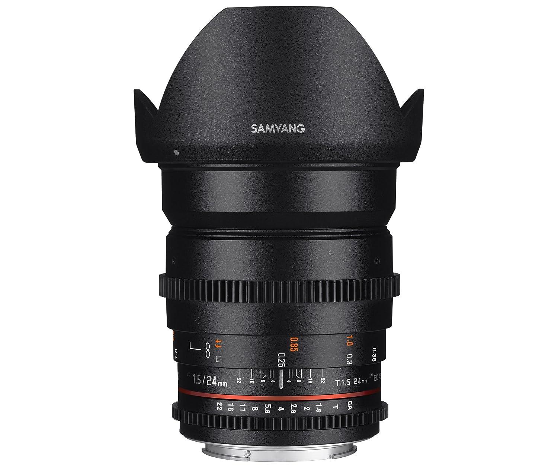 Samyang F Objetivo para vídeo VDSLR para Canon EF distancia focal fija