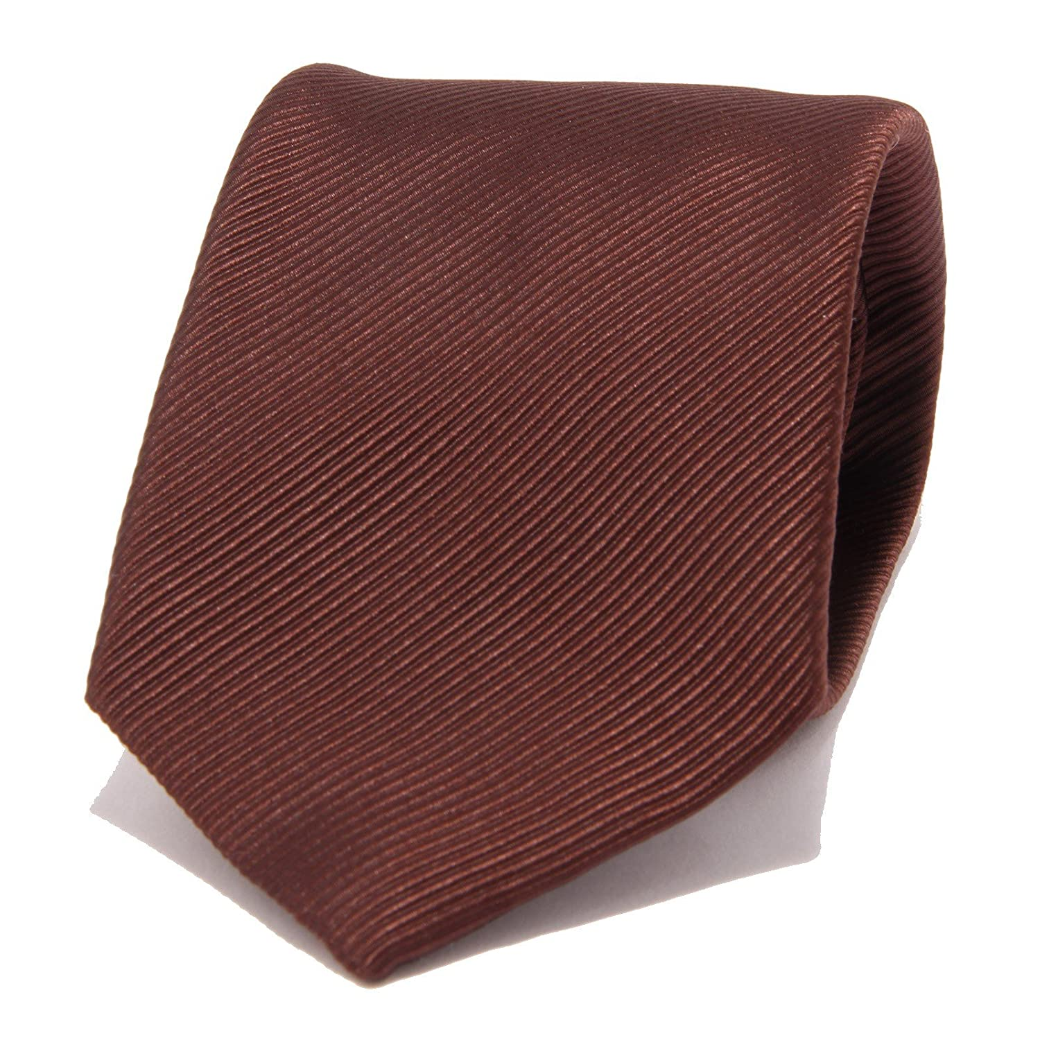 5188S cravatta uomo D BY D seta marrone brown silk tie men