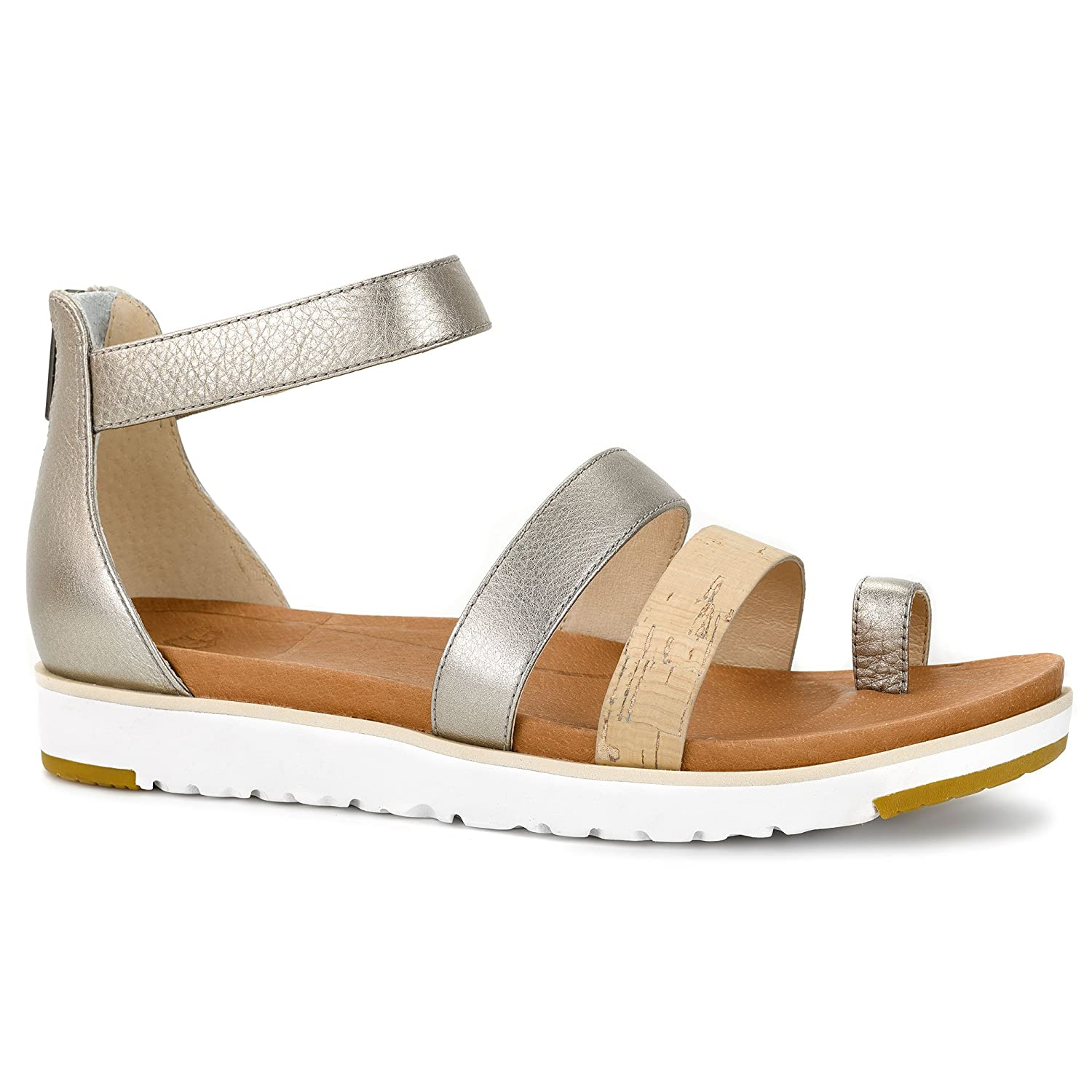 35f6c75d731 UGG Zina Sandals 2016 Grey/Gold Size: 6.5: Amazon.co.uk: Shoes & Bags