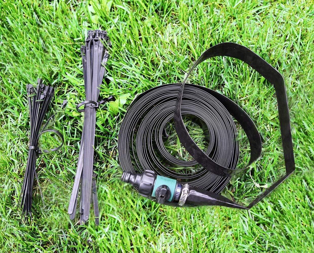 Bobor Trampoline Sprinklers for Kids Outdoor Trampoline Spary Park Fun Summer Water Toys39ft