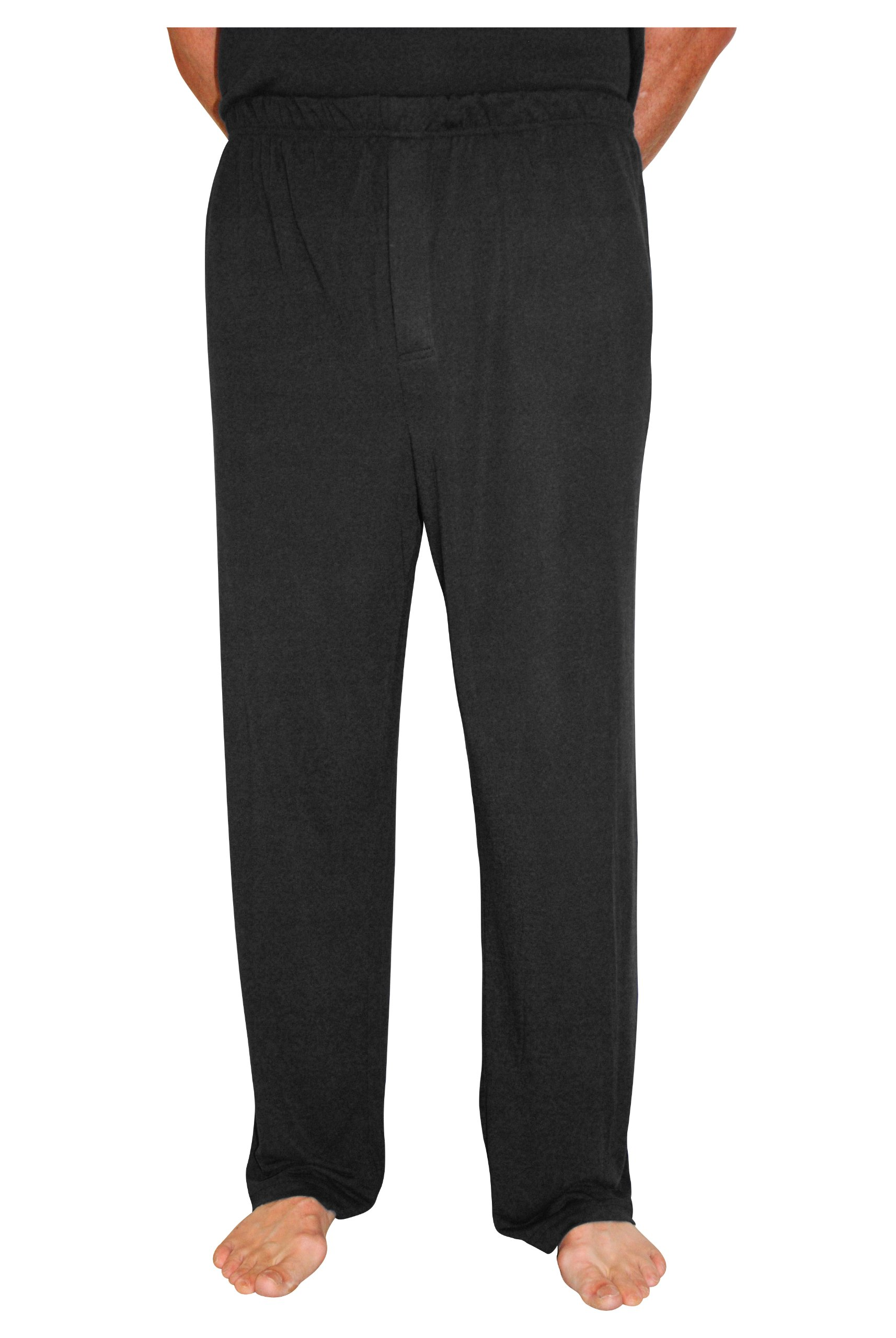 Cool-jams Moisture Wicking Men's Pajama Pant for Travel and Hot Nights (Medium, Black)