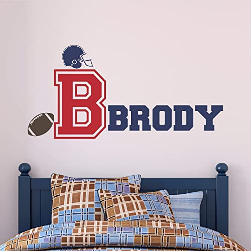 Sports Decal Football Sticker Football Wall Decal Boys Decal Nursery Decal Personalized Football Decal Football Decal