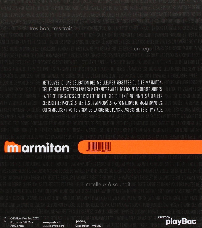 Amazon Fr Les Meilleures Recettes Marmiton Play Bac Livres