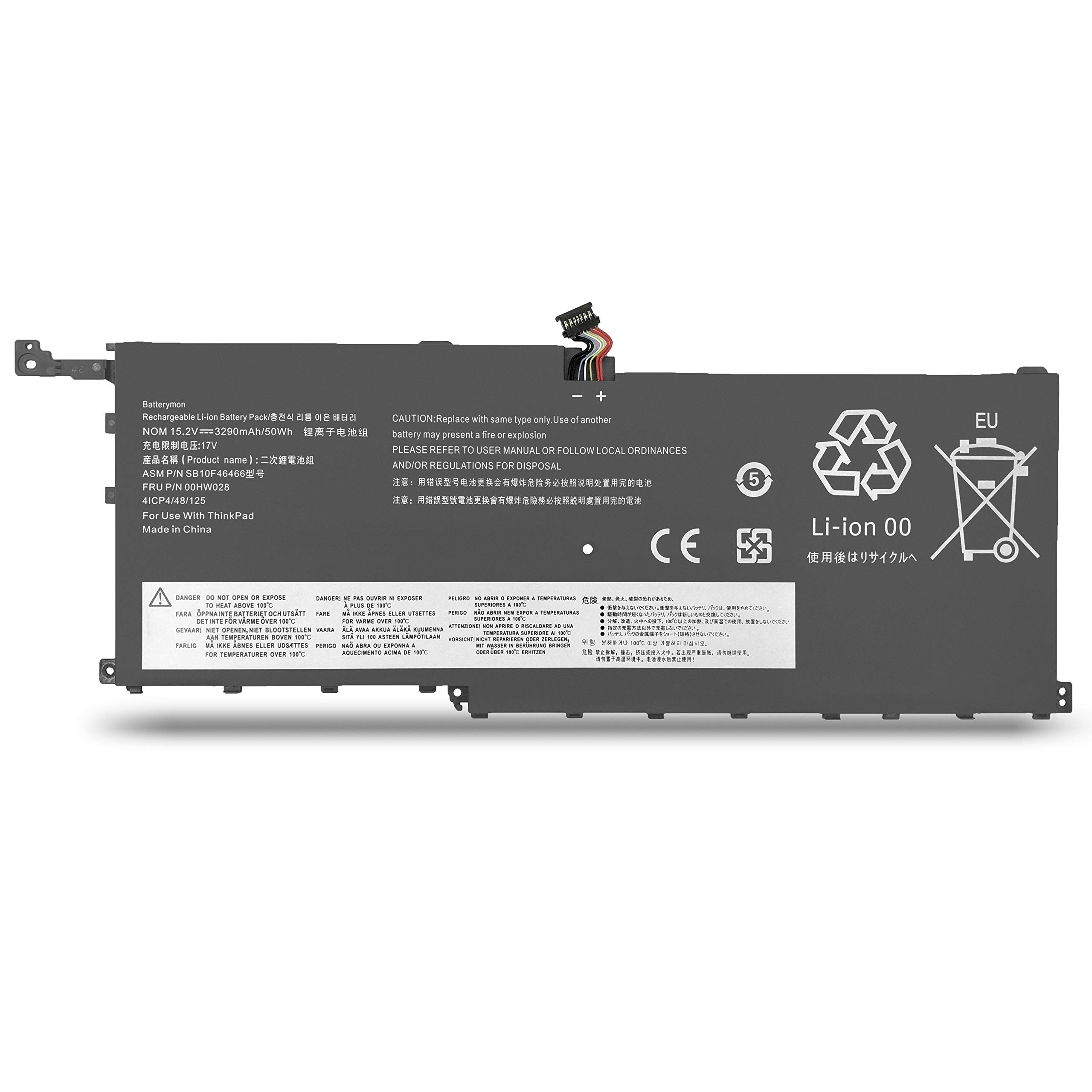 Bateria 00hw028 Para Lenovo Thinkpad X1 Carbon 4th 6th Gen/thinkpad X1 Yoga Ultrabook P/n: 00hw029 Sb10f46466 Sb10f46467