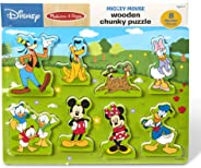 Melissa & Doug Disney Mickey Mouse Clubhouse Wooden Chunky Puzzle (8 Pieces, Great Gift for Girls and Boys – Best for 2, 3,