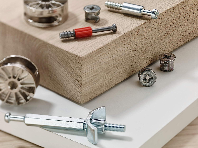 Haftkraft 4 kg Stahl vermessingt Gedotec Magnet-Schnapper Schrank-T/ür Magnetverschluss Metall T/ürschnapper zum Schrauben T/ür-Verschluss eckig /& extra Stark 1 St/ück Schn/äpper mit Gegenst/ück