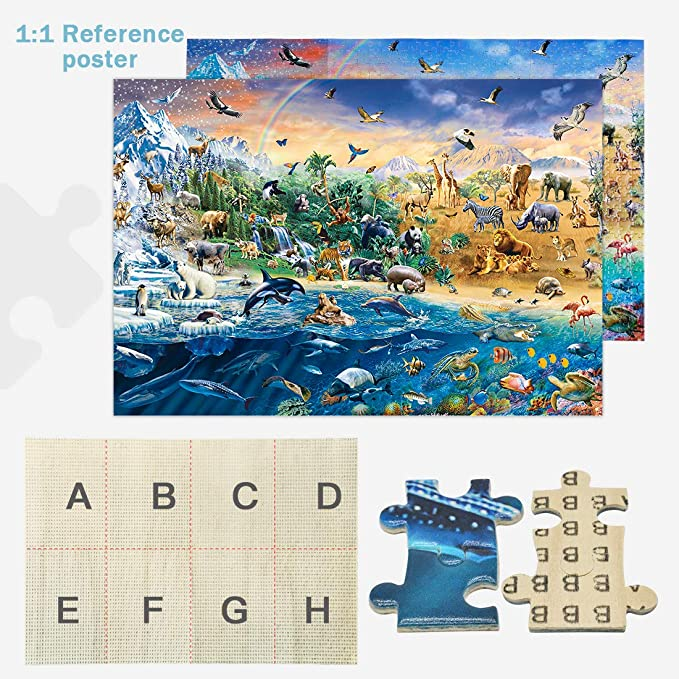 Entertainment Family Games Gifts Home Decor Wooden Puzzle Fun Puzzles Qeho Wooden Jigsaw Puzzles for Adults 1000 Pieces