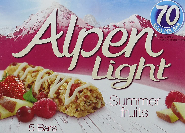 Alpen Light Summer Fruits Bar, 19g x 5 104159884