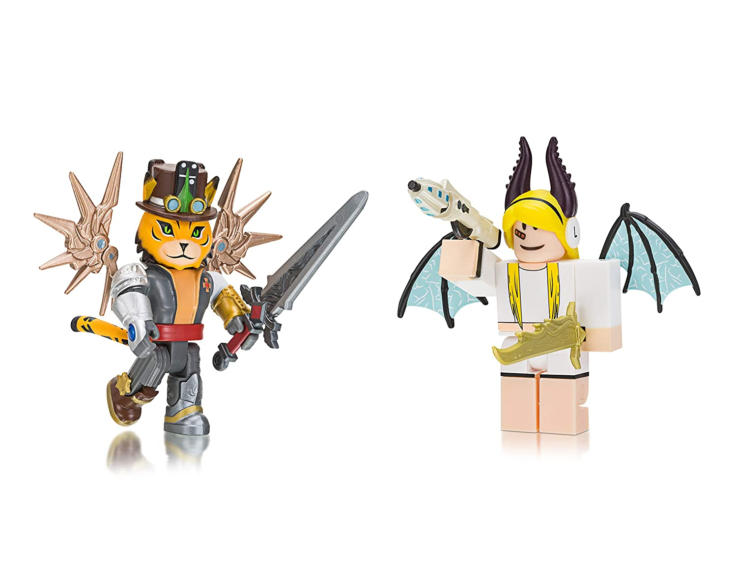 Roblox Celebrity Collection Tigercaptain Erythia Two Figure Pack - toy knife roblox