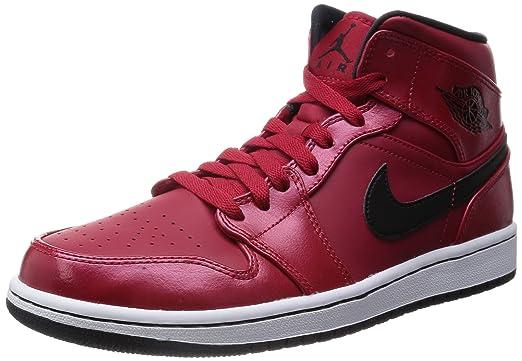 nike air jordan 1 mid basketball shoes black\/black-anthracite