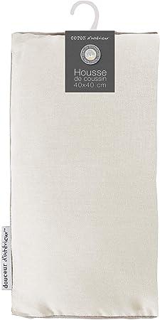 coton dint/érieur coussin 60x60cm coton panama brique