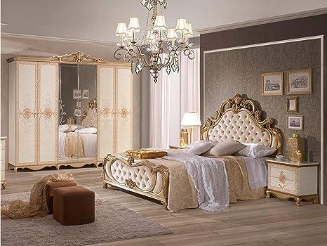 Schlichter® Schlafzimmer-Set Shirin, 7-teilig, Gold/weiß ...