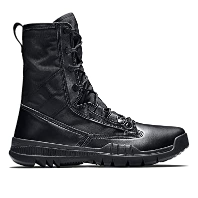 78d61c2f6d6f5 Nike SFB Field 8 quot  631371-090 Black Men s Tactical Police Leather Boots  ...