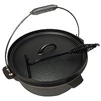 Dutch Oven klein schwarz Firepot Garten Camping Picknick ✔ rund