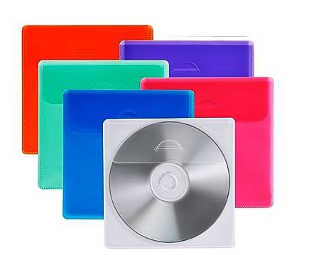 Vivanco - Lote de fundas para CD y DVD (25 unidades), diseño ...