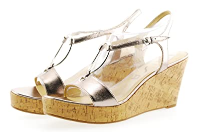 4334e3e4891 Image Unavailable. Image not available for. Color  Unisa Ottilia2 Pewter Platform  Wedge Sandal Shoes ...