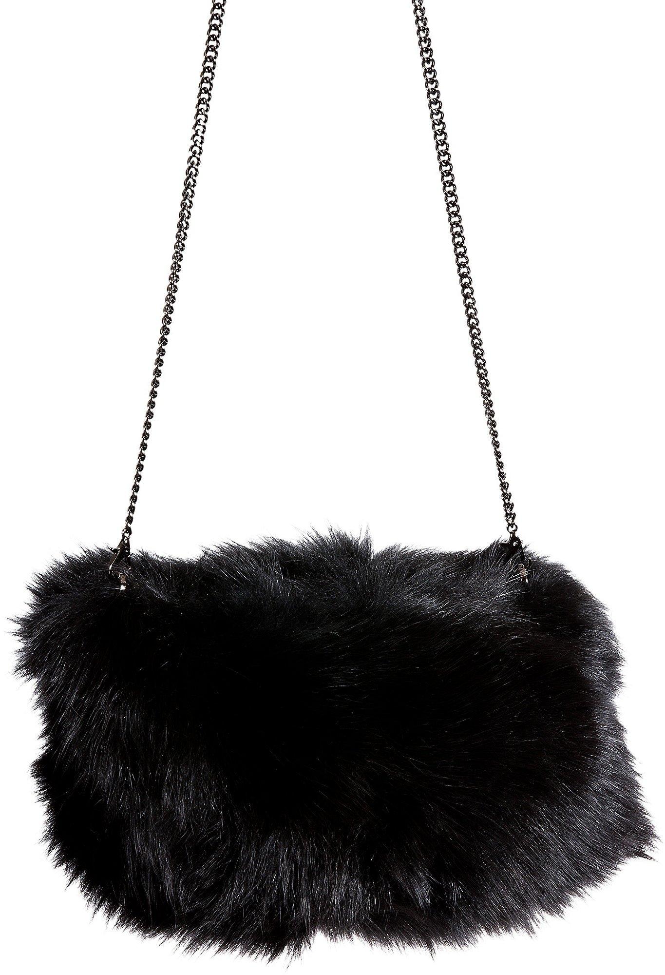 Fox Fur Muff Clutch Shoulder Bag by Overland Sheepskin Co