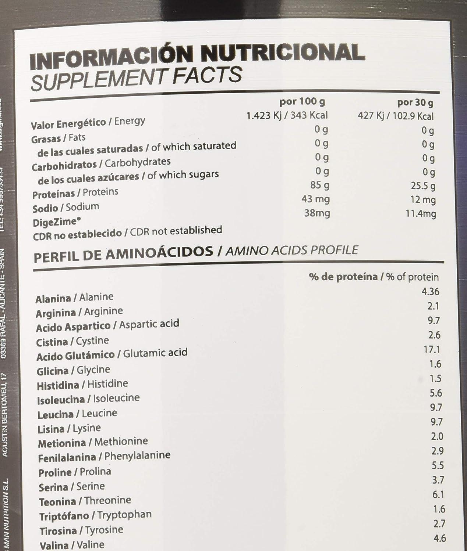 Big Man Nutrition Zero Whey Proteína Isolate, Sandia - 2000 gr