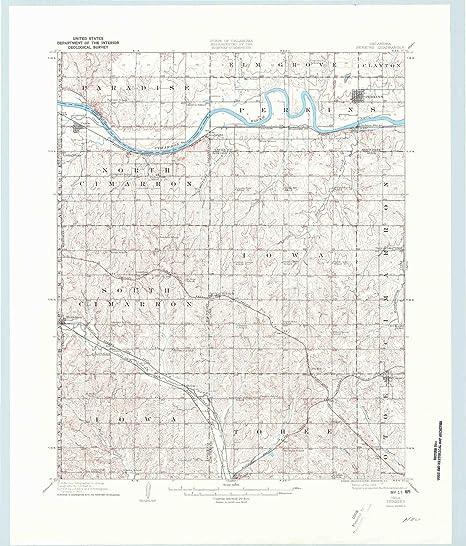 Amazon.com : YellowMaps Perkins OK topo map, 1:62500 Scale ...