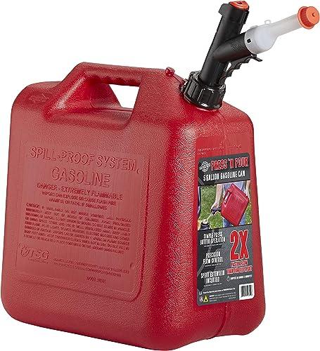 GARAGE BOSS GB351 Press 'N Pour Gas Can, 5 Gallon
