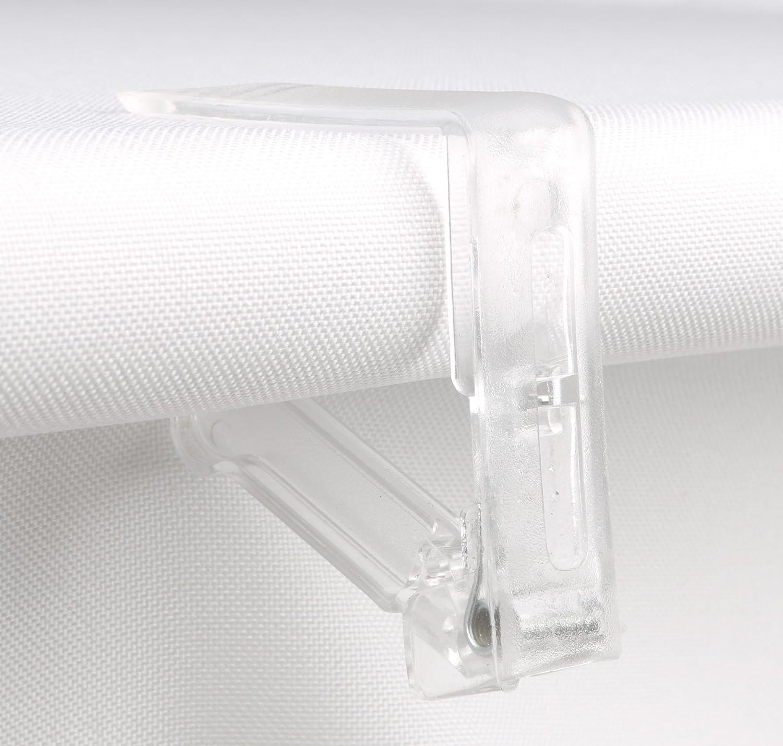 Mesa sujetamanteles juego de 4 - Plástico transparente - - Pinzas para mantel: Amazon.es: Jardín