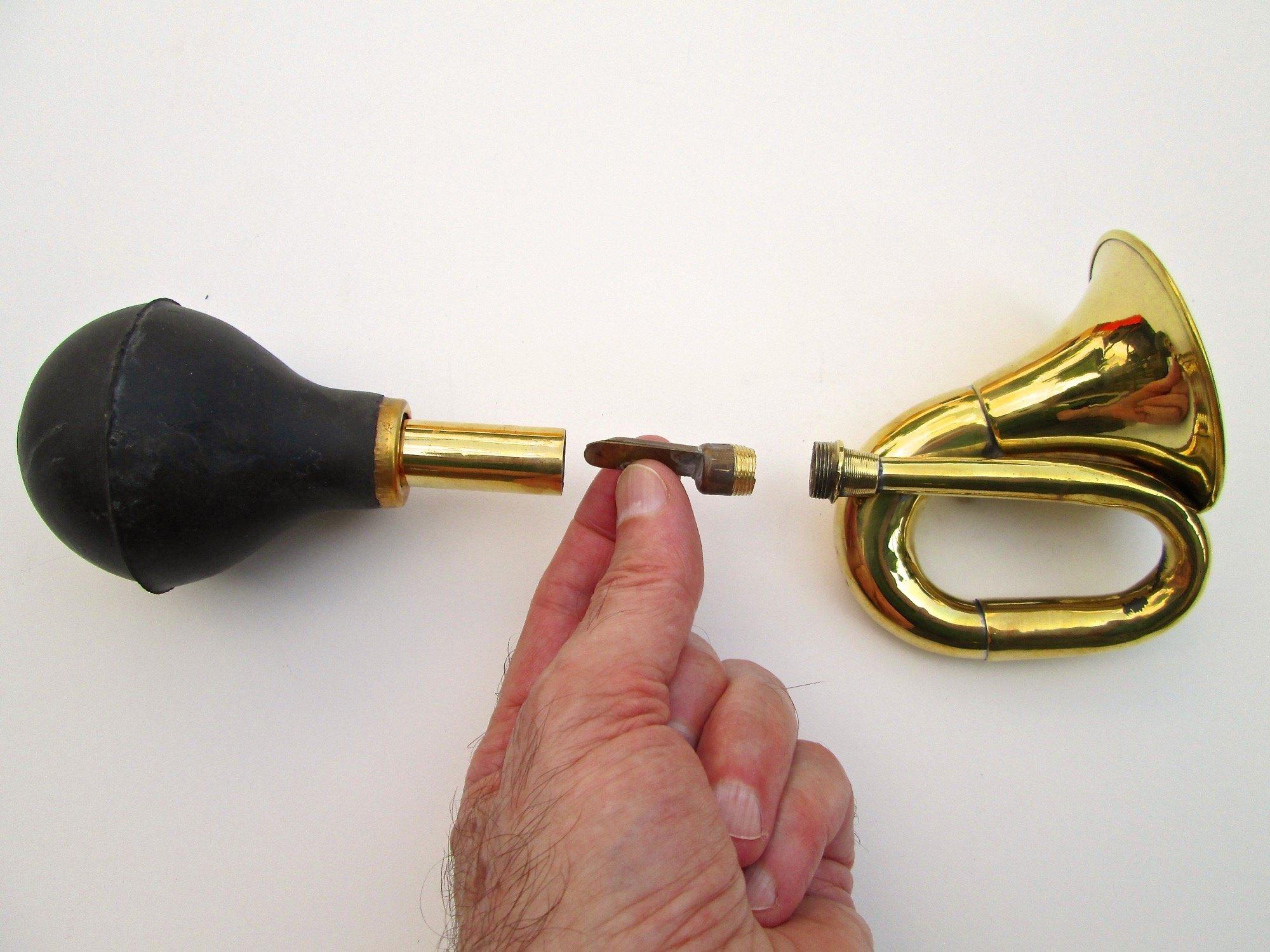 Mini Brass Bulb Horn by Folkroots