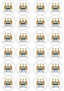 12 x Manchester City Team Edible Cake Toppers Man City Birthday
