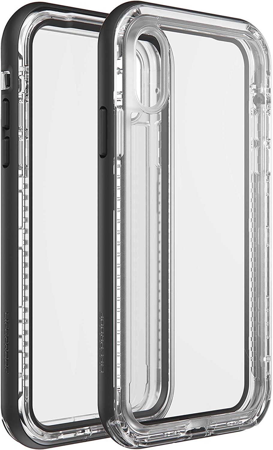 LifeProof (77-60550 Next Series, Amplify The Action. Clear and Slim dropproof, dustproof, and Snowproof case for iPhone X/Xs - Black Crystal