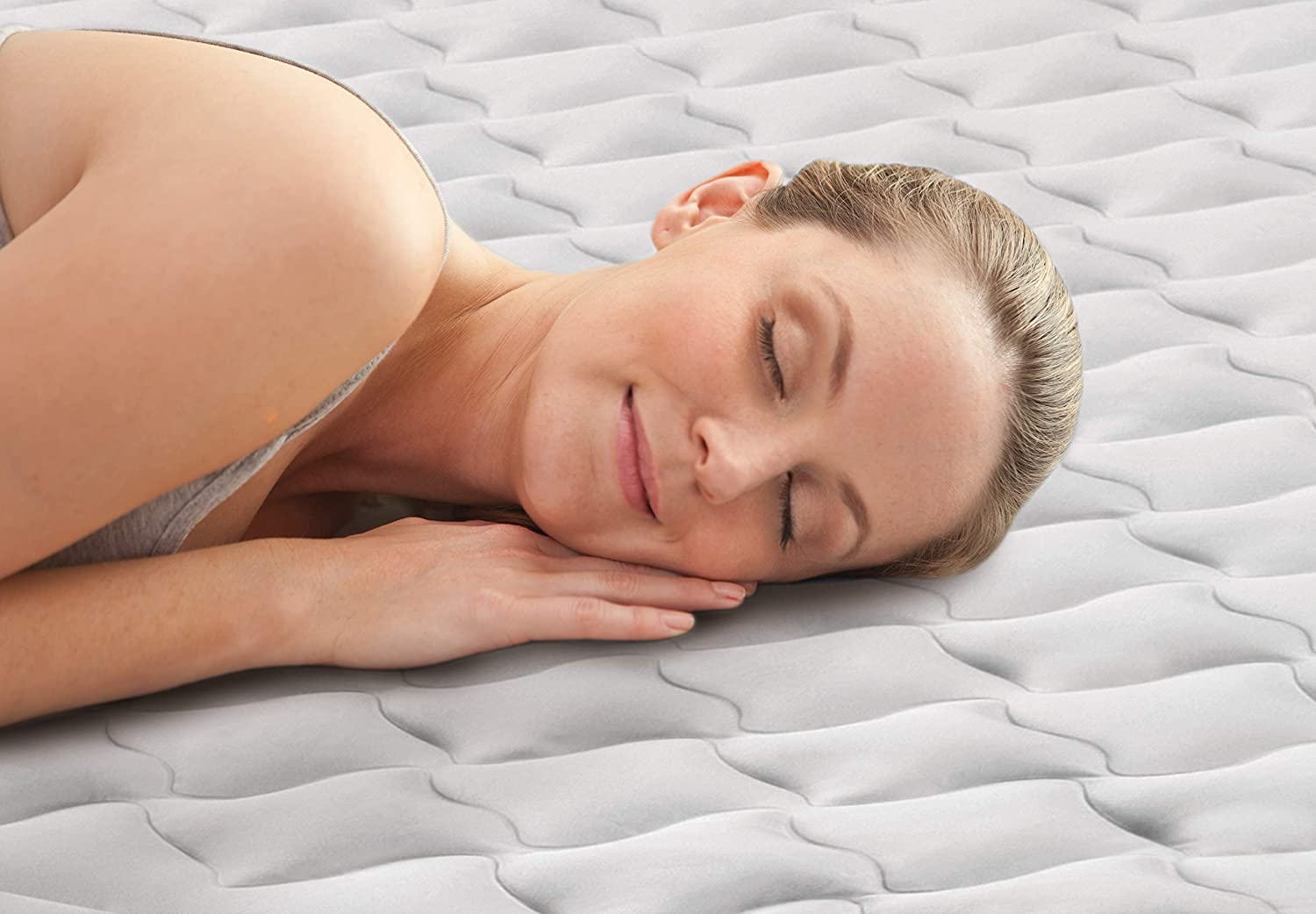Intex   Unisex Outdoor  Air Bed available in White Single