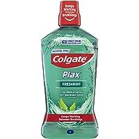 Colgate Plax Antibacterial Mouthwash 1L, Alcohol Free, Freshmint, Bad Breath Control