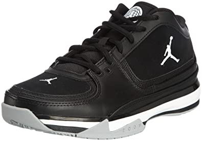 Air Jordan Team Iso Low (Black / White-Metallic Silver) 11 D(