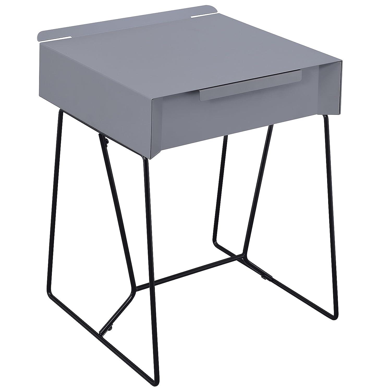247SHOPATHOME IDF-AC169GY Soren Side Table Grey