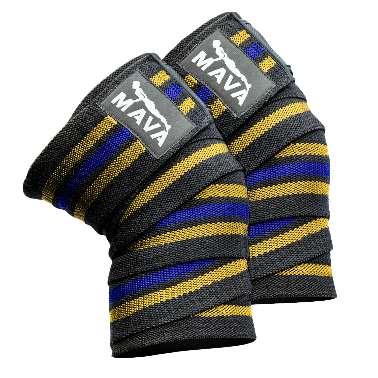 Knee Wraps, Sold as a Pair, Grip to The Skin - Help Support The Recovery Knees During Heavy Lifting or Injury Recovery - Lift Heavier Weights & Support The Knee During Training.