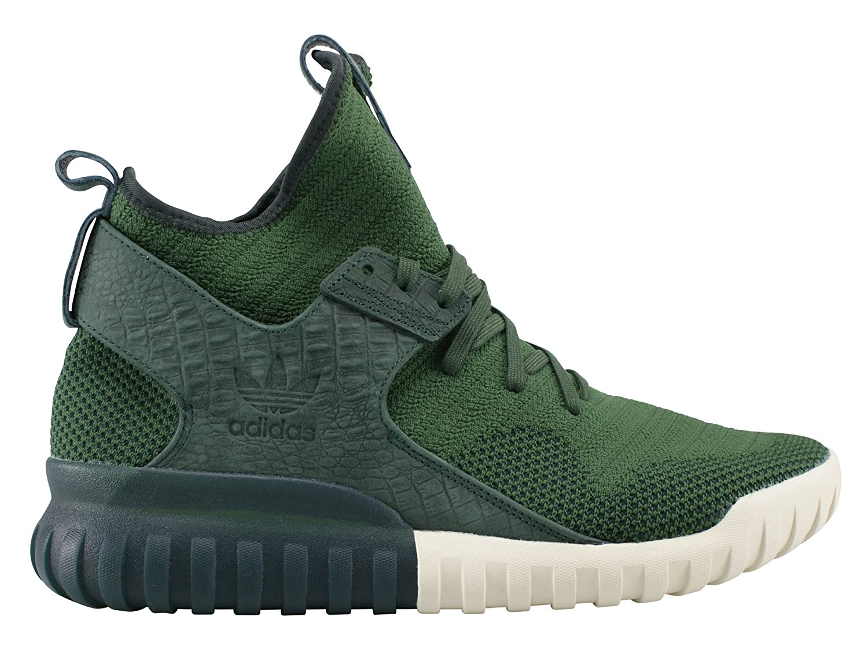 adidas Originals Tubular X Prime Knit Hombres Zapatos verde S74932 9,5|shadow green/shadow green/cream