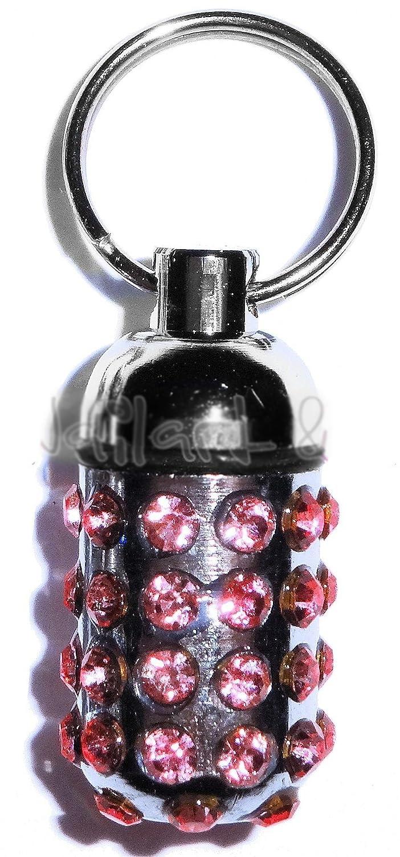 Tubes de nom de pendentif ~ ~ Rose Crystal ~ ~ de chien marque/Porte-clés/Porte-adresse pour collier de chien: Argent Couleurs scintillants straßsteinchen Anneau Pendentif inclus unbekannt