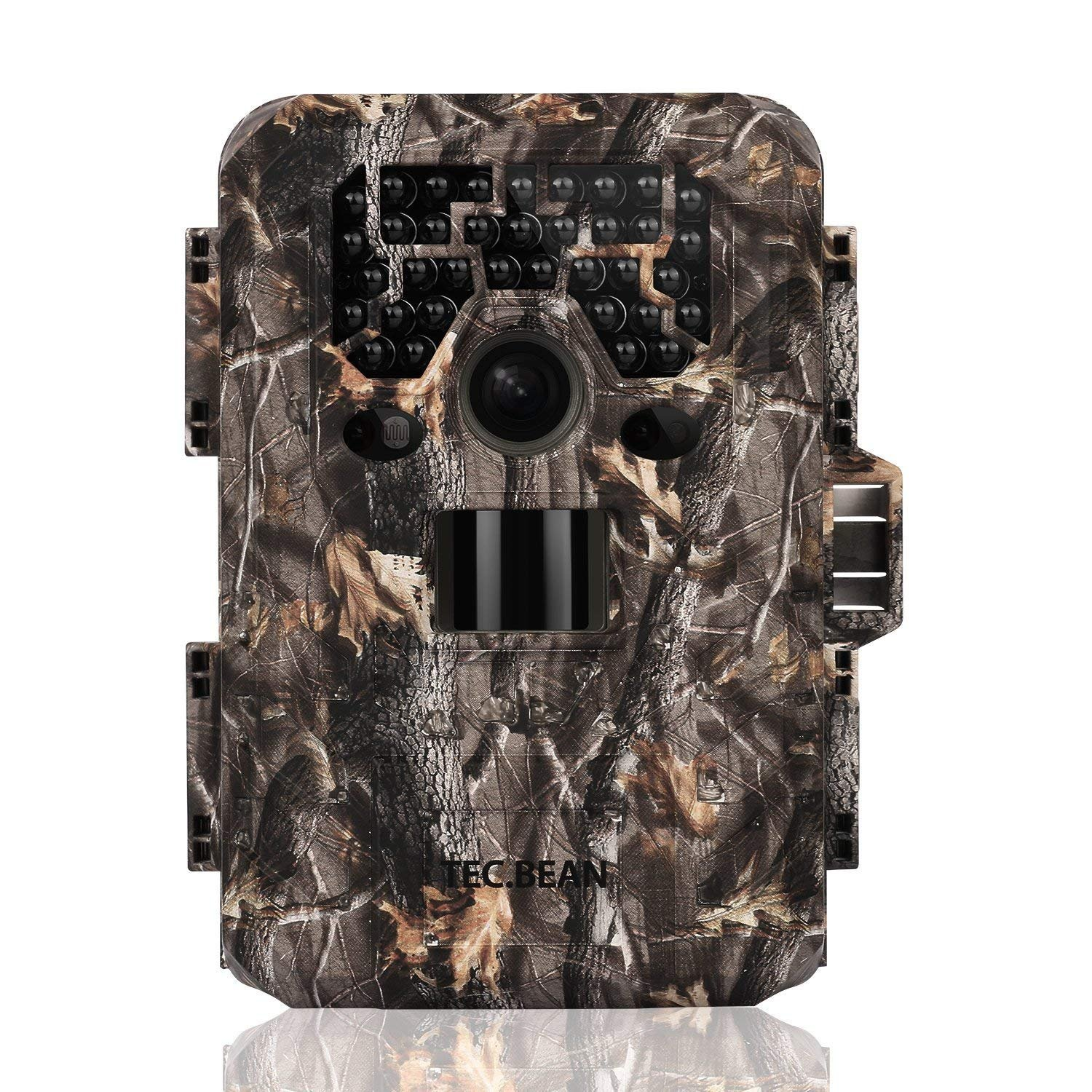 TEC.BEAN Trail Camera 12MP 1080P Full HD Game Hunting Camera with 36pcs 940nm IR LEDs Night Vision up to 75ft 23m IP66 Waterproof 0.6s Trigger Speed for Wildlife Observation and Home Security