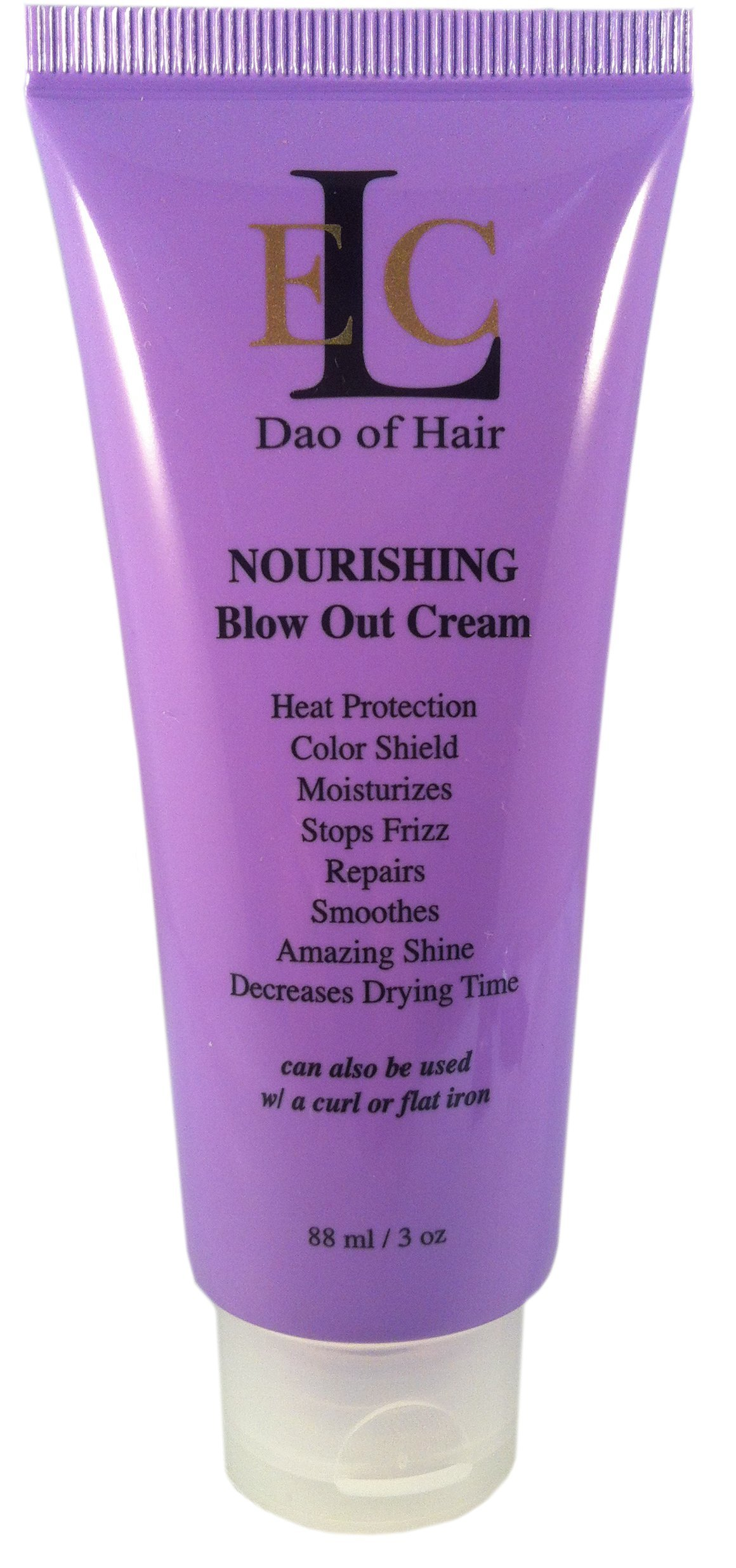 ELC RD Nourishing Blow Out Cream; Smooths, Blocks Humidity & Frizz. Heat & Color Protection. Moisturizes, Strengthens. Prevent Split Ends, Brilliant Shine. Reduces Drying time. Med to Coarse Hair.
