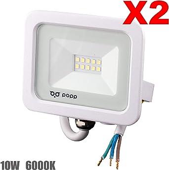 POPP® Foco Proyector LED 10W para uso Exterior Iluminación ...