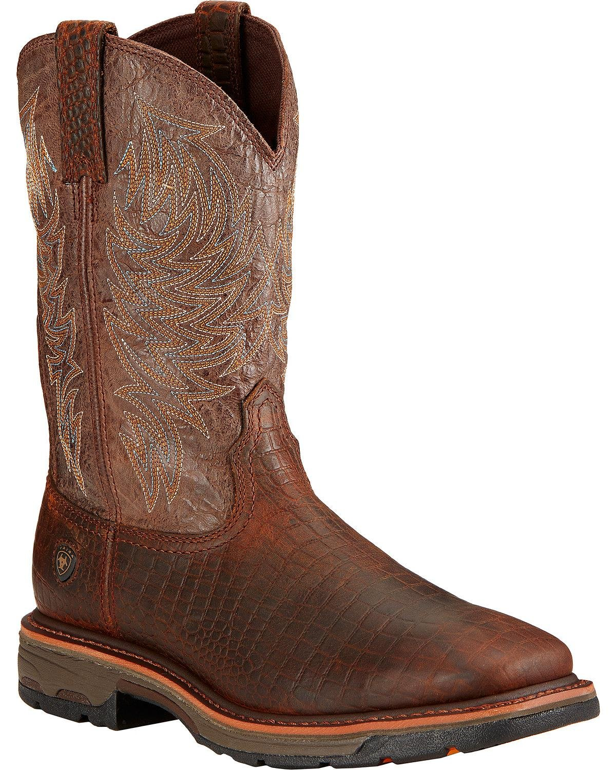 Ariat Men's Workhog Wide Square Toe Work Boot Ariat Work