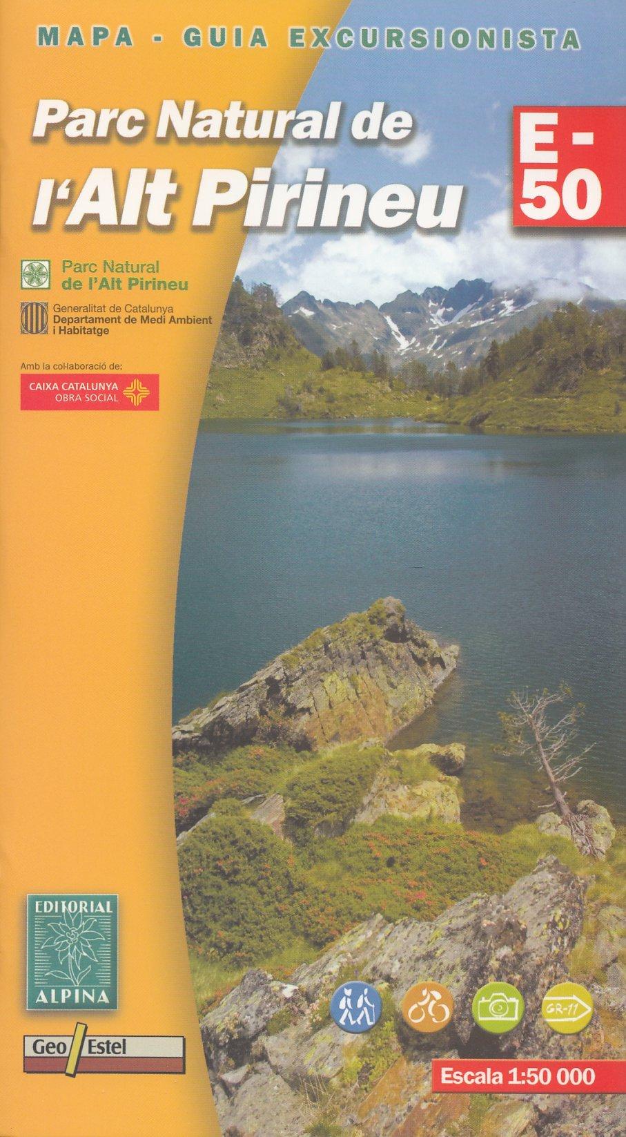 Parc Natural de lAlt Pirineu 1:50.000 senderismo topográfico ...
