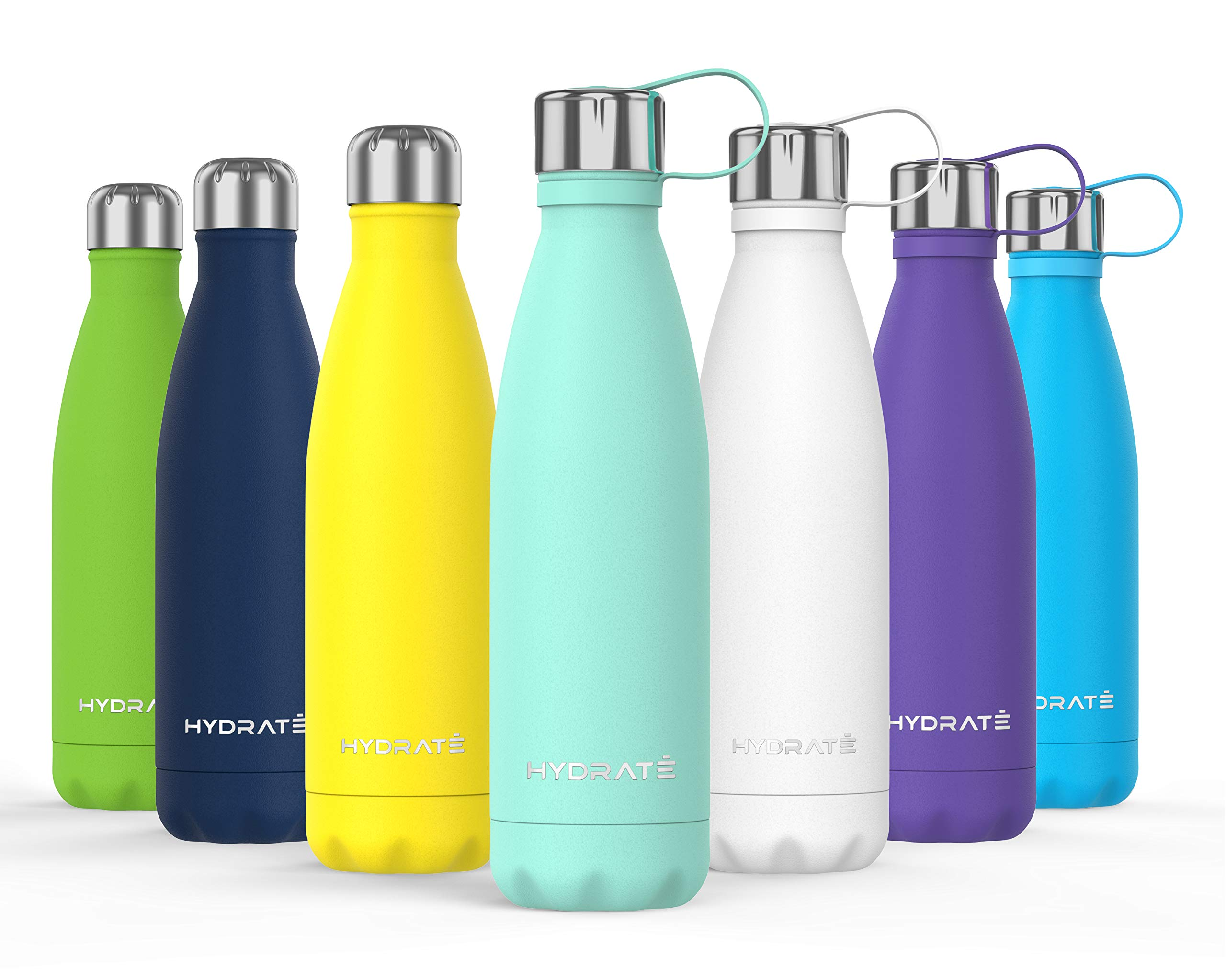 BPA Free Vacuum Flask HYDRATE Super Insulated Stainless Steel Water Bottle 24 Hours Cold /& 12 Hours Hot
