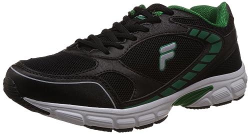 30e2efdc3ee Fila Men s Strike Lite Black and Green Running Shoes -11 UK India ...