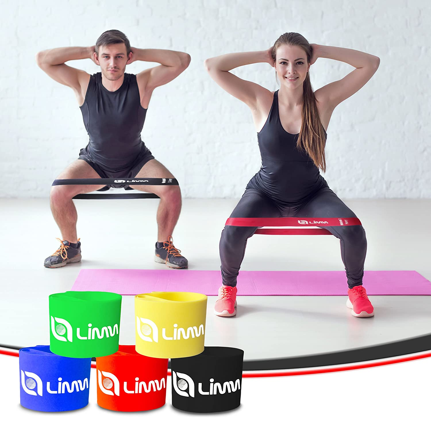 Balance exercise physical therapy - Amazon Com Limm Exercise Resistance Loop Bands Set Of 5 12 Inch Workout Bands Best For Pilates Stretching Physical Therapy Yoga And Home Fitness