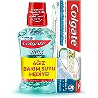 Colgate Total Profesyonel Aktif Etki Diş Macunu 75 ml + Plax Taze Nane Alkolsüz Ağız Bakım Suyu 250 ml